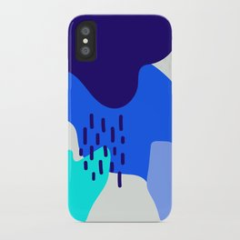 Blue abstract pattern iPhone Case