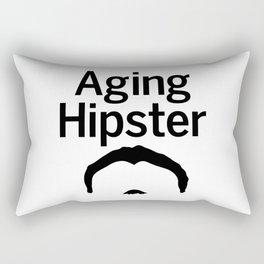 Aging Hipster Rectangular Pillow