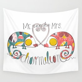 Mr. and Mrs. Charmeleon Wall Tapestry