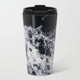 OCEAN - WAVES - SEA - ROCKS - DARK - WATER Travel Mug