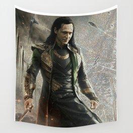 Loki Laufeyson Mosaic Wall Tapestry
