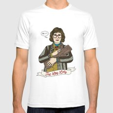 Twin Peaks (David Lynch) The Log Lady MEDIUM White Mens Fitted Tee
