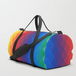Rainbow geometric pattern Duffle Bag