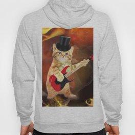 rocker cat in flames Hoody