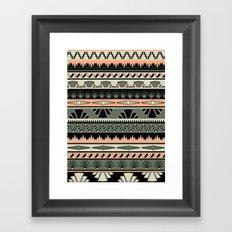 art deco stripes - salmon Framed Art Print