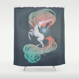Unicorn in the Ether Shower Curtain