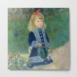 Auguste Renoir A Girl with a Watering Can 1876 Painting Metal Print