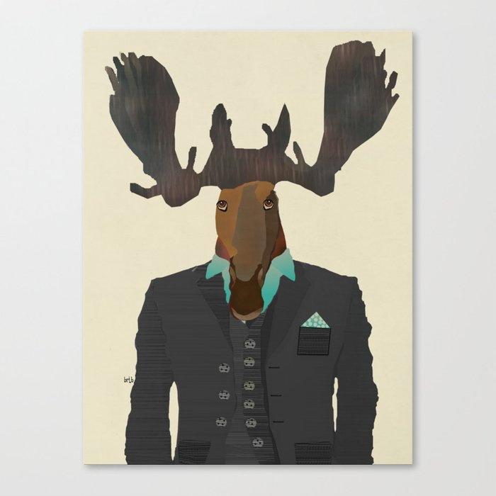 mr moose Canvas Print