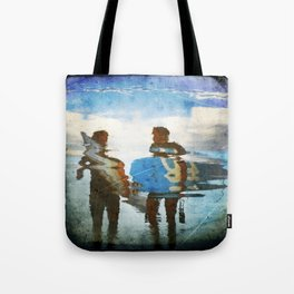 Two surfers Tote Bag