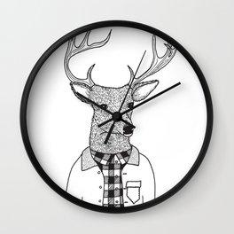 Oh Deer Dude Wall Clock