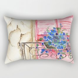 Balcony in France Rectangular Pillow