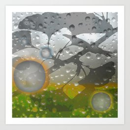 Ginkos in the Rain Art Print