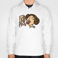leia Hoodies featuring Leia by JSCulquiArt