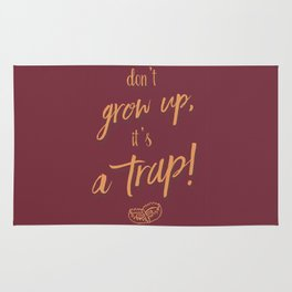 don't Grow up - Humour Illustration, funny, fun, hilarious, humor Rug