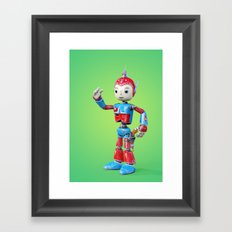 Robo Boy. Space Navy Upgrade. Framed Art Print