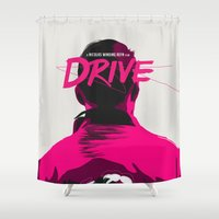 drive Shower Curtains featuring DRIVE by justjeff