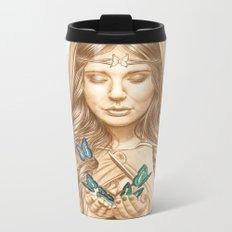 The Butterfly Girl Metal Travel Mug
