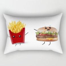 Food Friends Rectangular Pillow