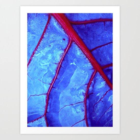 bloodstream abstract II Art Print