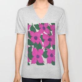 Spring Classic Pink Flowers Unisex V-Neck