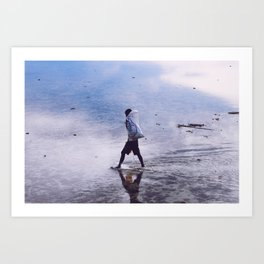 Walking to the boat (Moluccas, Indonesia) Art Print