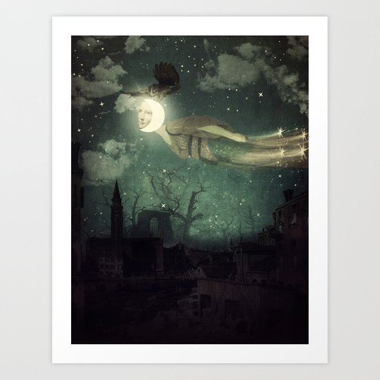 The Owl That Stole the Moon Art Print