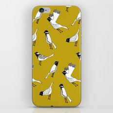 Bird Print - Mustard Yellow iPhone Skin