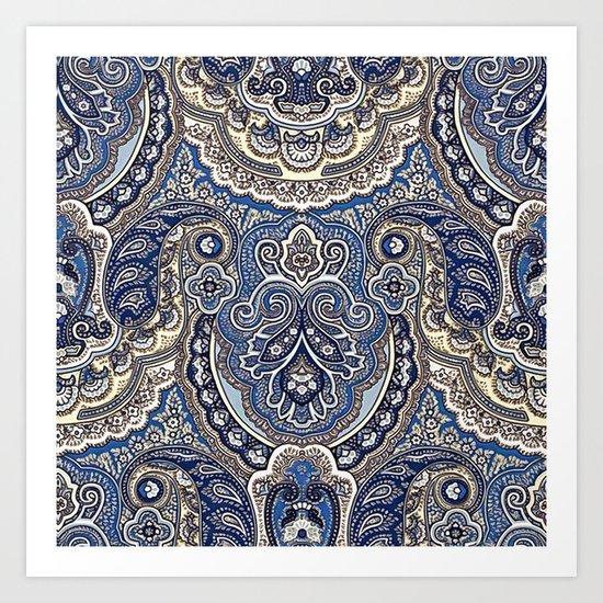 Boho paisley pattern Art Print