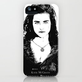 Katie McGrath - Morgana Pendragon Black and White iPhone Case