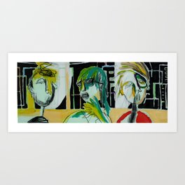 Fineart/abstract expressionism portrait/unique outsider art by artist  Art Print