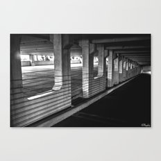 Gritty Parking Canvas Print