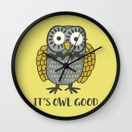 It's OWL Good Wall Clock
