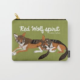 Red Wolf Spirit #2 Carry-All Pouch