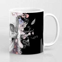 Dia Los Muertos, Floral Skull Coffee Mug