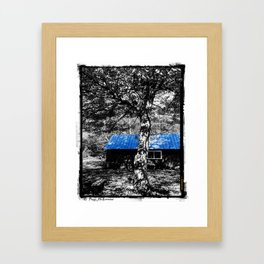 Shambhala Shed 4a - Perl Framed Art Print