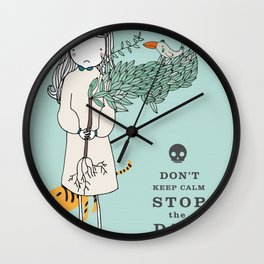 Save the world Wall Clock
