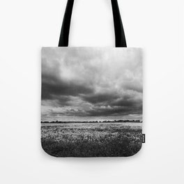 Landscape Photography | Dandelion Field | Canada | Black and White | black-and-white | bw Tote Bag