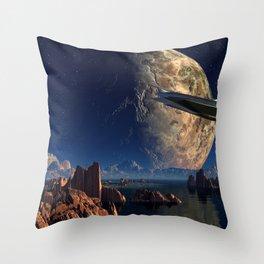 Spaceship Throw Pillow