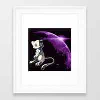 mew Framed Art Prints featuring Mew  by Cat Milchard