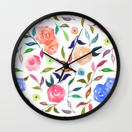 Colorful Florals Wall Clock