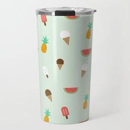 Summer Pattern cute ice creams, watermelon & pineapples Travel Mug