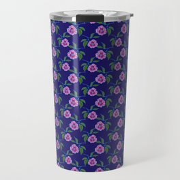 Peony Floral Floating Pattern Travel Mug