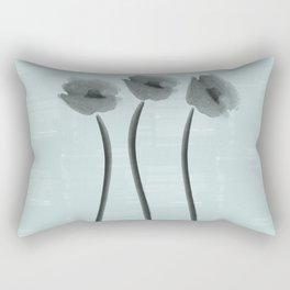 White Anemone Watercolor Impression Rectangular Pillow