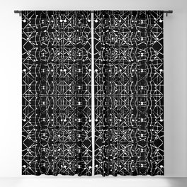Black and White Ethnic Ornate Pattern Blackout Curtain