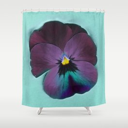 Purple viola tricolor Shower Curtain