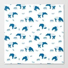 Malayan Tapir In Blue Canvas Print