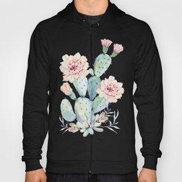Prettiest Cactus Rose Watercolor by Nature Magick Hoody