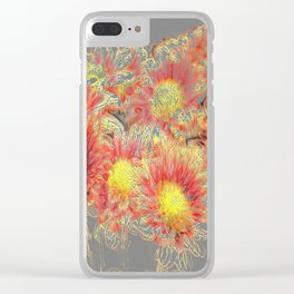 Dreamy flowers Clear iPhone Case