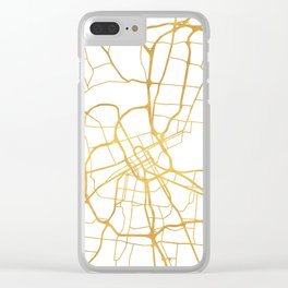 NASHVILLE TENNESSEE CITY STREET MAP ART Clear iPhone Case