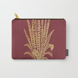 Gold sansevieria on red dahlia Carry-All Pouch